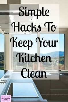Life Hacks : 10 Things People With Clean Kitchens Do Daily! If you are looking for some simple tips to help you keep your kitchen clean then these tips House Cleaning Tips, Deep Cleaning, Spring Cleaning, Cleaning Hacks, Cleaning Checklist, Cleaning Crew, Cleaning Schedules, Organizing Tips, Organising