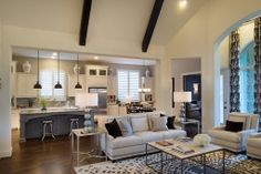 Highland Homes | Lawler Park 75s | Living Room | Frisco, TX | Plan 296