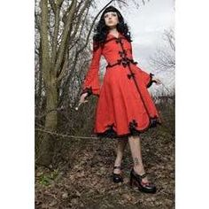 Red Riding Hood Retro Inspired Coat