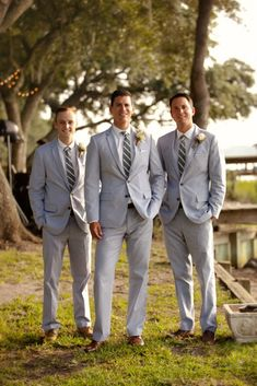 Beaufort Weddings - Pale Purple Color Palette - Ava Moore Photography - Coastal Weddings - grey groomsmen suits