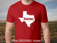 Texas Home. T shirt Men's/Unisex Vintage Red by HomeStateApparel, $21.95