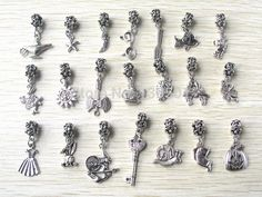 Free Shipping 2015 Mix New Style 21pcs Antique Silver Plated Big Hole Pendant Charms fit European Pandora Bracelet Jewelry DIY-in Beads from Jewelry on Aliexpress.com | Alibaba Group