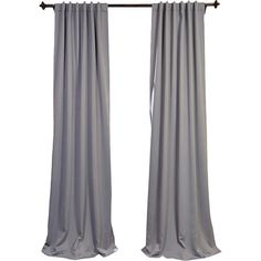 Bring understated elegance to the master suite or living room with this chic gray curtain, featuring a light-blocking design.  Produ...