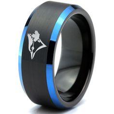 Zelda Breath of the Wild Eye Blue Beveled Black Tungsten Ring Wedding With Kids, Wedding Rings For Women, Wedding Men, Wedding Bands, Rings For Men, Black Tungsten Rings, Wedding Ring Pictures, Wedding Ring Designs, Wedding Jewelry
