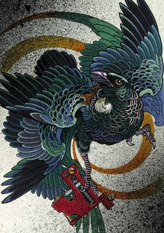 Tui Illustration, Dean Tui Print, Sacred Tattoo