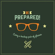 DO YOU CARRY BACKUP GLASSES? We recommend it in case you need to unexpectedly remove your contacts! #beprepared #likeaboyscout #glasses #optometrist #dublin #visionsource