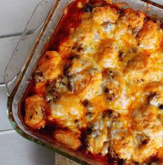 Recipe for Enchilada Bubble Bake - This Mexican casserole is full of flavor and comes together quickly for an easy and delicious weeknight dinner.