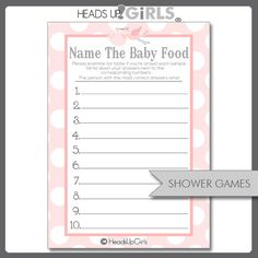 201 Best Baby Shower Ideas Images Food Tasting Template