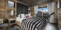One of the chalet Eikthyrnir's #bedroom in #Courchevel.  More information: http://clni.st/W6AYkO  #chalet #luxury #decoration #mountains