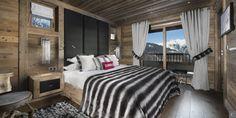 One of the chalet Eikthyrnir's #bedroom in #Courchevel.  More information: http://clni.st/W6AYkO  #chalet #luxury #decoration #mountains