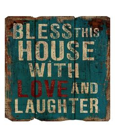 Look at this #zulilyfind! 'Bless This House' Wood Sign by M Home Decor #zulilyfinds
