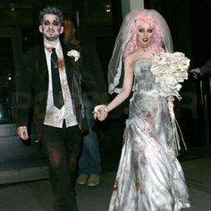 The Most Fab Halloween Costumes of Yesteryear: Christina and her hubbie as the corpse bride and groom in 2006. Excellent.