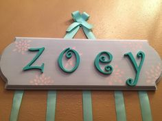 Personalized hair bow holder by LBofSass on Etsy