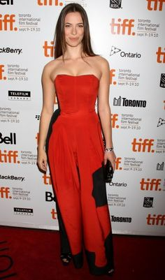Rebecca Halls colorful outfits