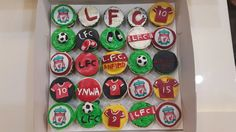 My first attempt at making Liverpool Football cupcakes! #fromlizaskitchenwithlove