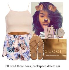 """""""At the mall"""" by kiatheplugg ❤ liked on Polyvore featuring Gucci and Billabong"""