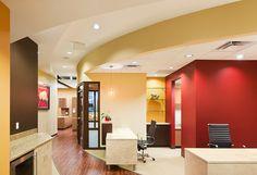 Curved floor matching lines of ceiling  Riverside Dental - Dental Office Design by JoeArchitect in Littleton, Colorado