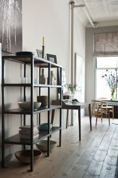 Library and Hans Wegner wishbone chairs