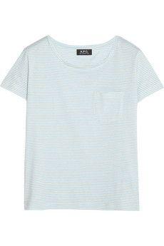 A.P.C. Atelier de Production et de Création Charlotte striped cotton-jersey T-shirt | NET-A-PORTER