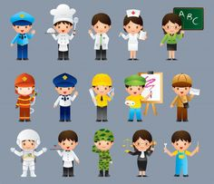 Kids in different job set Premium Vector Cores Rgb, Kids Coping Skills, School Frame, Kids Vector, Vector Photo, Cute Cartoon Wallpapers, Cartoon Kids, Preschool Activities, Art For Kids