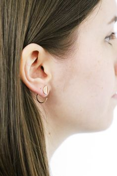 These mini hoops by Erica Weiner are so beautiful. They're definitely an everyday earring! mooreaseal.com