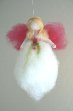 Needle Felted Angel Guardian Angel Fairy by CloudBerryCrafts