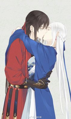 Sweet sugar-happy life research institute-new ideas , Manga Couple, Anime Love Couple, Couple Art, Chinese Drawings, Chinese Art, Chinese Painting, Character Inspiration, Character Art, Character Design