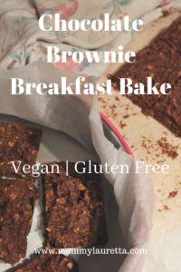 Chocolate Brownie Breakfast Bake - Mummy Lauretta
