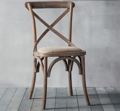 Newhaven Bentwood Chair w/Fabric Seat (Natural) is a stylish product from our Classic Chair range. Buy online now at Maison Living! Cross Back Dining Chairs, Rustic Dining Chairs, Shabby Chic Chairs, Bentwood Chairs, Bistro Chairs, Cafe Chairs, Dining Chair Set, Rustic Chair, Desk Chairs