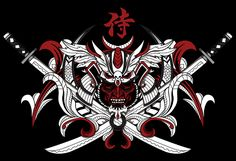 侍 on Behance Kabuto Samurai, Samurai Swords, Japanese Oni, Traditional Japanese Art, Dragon Tattoo Designs, Tattoo Designs Men, Japanese Wallpaper Iphone, Samurai Mask Tattoo, Japanese Mask Tattoo