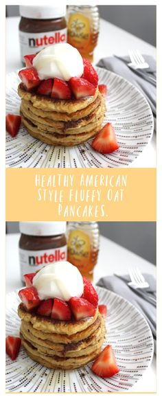 This sweet brekkie is packed with the same thickness and sponginess (I think that's a word) of an American style pancake while being entirely guilt free! Slimming World Pancakes, American Style Pancakes, Oat Pancakes, Vanilla Yogurt, Group Meals, Food Menu, Serving Size, Nutella, Food Processor Recipes