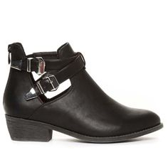 black cut outs shoes