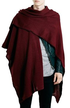 For mens fashion check out the latest ranges at Topman online and buy today. Topman - The only destination for the best in mens fashion Mens Poncho, Mode Alternative, Knitted Cape, Mens Fashion, Fashion Outfits, Urban Fashion, Fashion Cape, Creation Couture, Cardigan Outfits