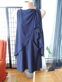 Hey, I found this really awesome Etsy listing at https://www.etsy.com/listing/177182128/navy-blue-versatile-silk-dress-with