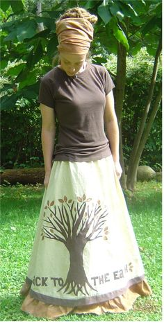 back to the earth skirt