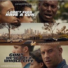 We've Got A Whole City... - Toretto  #Furious7 #FastandFurious #AllLove #Sunday… Fast And Furious Memes, Fast Furious Series, Movie Fast And Furious, Furious Movie, The Furious, All Movies, Series Movies, Movies And Tv Shows, I Dont Have Friends