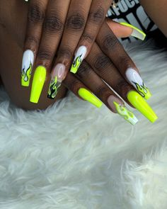 Best Acrylic Nails Part 13 Drip Nails, Glow Nails, Aycrlic Nails, Coffin Nails, Rave Nails, Edgy Nails, Summer Acrylic Nails, Best Acrylic Nails, Nail Swag