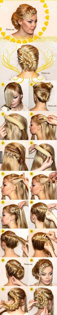 Elegante und extravagante Frisur