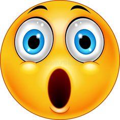 Surprised emoticon smiley vector image on VectorStock Animated Smiley Faces, Funny Emoji Faces, Animated Emoticons, Emoticon Faces, Funny Emoticons, Emoticons Text, Love Smiley, Emoji Love, Cute Emoji