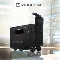 The Modobag Motorized Ride-On Luggage is the first of its kind and an absolutely genius invention for anyone who's ever traveled through an airport.