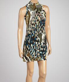 Another great find on #zulily! Black & Blue Jungle Yoke Dress #zulilyfinds