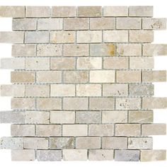 Ms International Chiaro Brick 12 In X 12 In X 10 Mm Tumbled Travertine Mesh Mounted Mosaic Tile