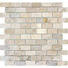MS International Chiaro Brick 1 in. x 2 in. Travertine Mosaic Floor & Wall Tile-THDW3-SH-CHBRI1X2T at The Home Depot