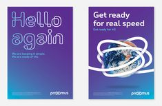 New Logo and Identity for Proximus by Saffron Tech Branding, Brand Guidelines, Keep It Simple, Graphic Design Inspiration, Editorial Design, Identity, Ads, Templates, Logo