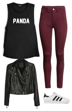 """Outfit #543"" by naleland on Polyvore featuring moda, H&M, Paige Denim, adidas, Summer, chic, pretty i ootd"