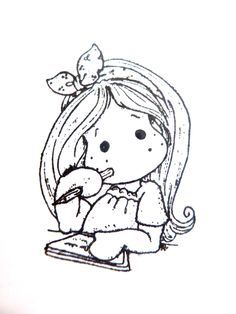 tilda coloring page Colouring Pics, Coloring Book Pages, Coloring Sheets, Adult Coloring, Magnolia Colors, Black And White Drawing, Penny Black, Copics, Drawing For Kids