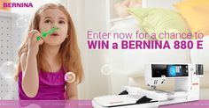 I just entered to win a BERNINA 880 E in Just Win It from BERNINA Canada. Don't forget to SHARE and WIN monthly prize packs. Enter now
