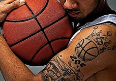 Real Basketball Tattoo Designs for Men on Sleeve Readmore http://tattoosclick.com/basketball-tattoo-designs