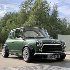 Image may contain: car, sky, cloud, tree and outdoor Mini Cooper Classic, Classic Mini, Classic Cars, Retro Cars, Vintage Cars, Rover Mini Cooper, Austin Mini, Mini Uk, Mini Morris