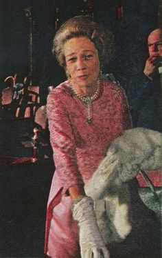 """Mrs Vincent Astor, Brooke, Greets Friends In The Diamond Horseshoe During Intermission. Her Box Had Been Used By Vincent's Previous Wives And Was Originally The Box Of Caroline Astor    """"I am sad"""" she said """"But how often does an evening like this happen?"""""""